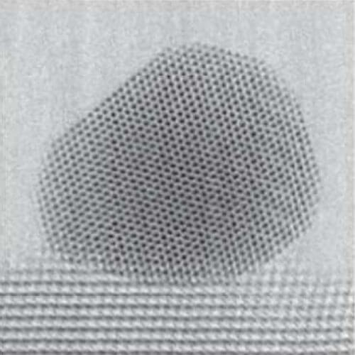 Catalyst nanoparticle imaged at 500ºC. Image courtesy University of Michigan.