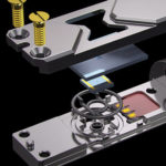 exploded view of liquid cell holder TEM