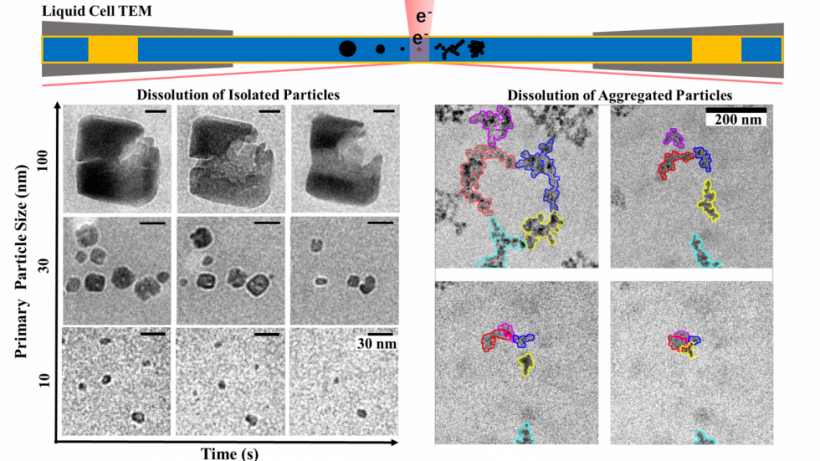 Behavior of Isolated and Aggregated Hematite Particles